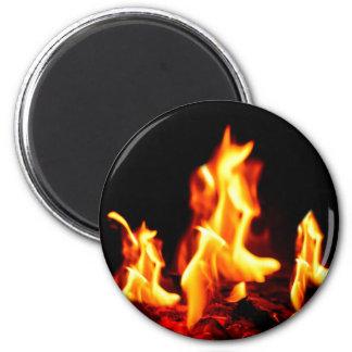 Blazing flames magnet
