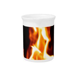 Blazing flames pitcher