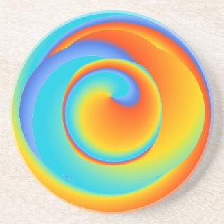blazing spin - ceramic coaster