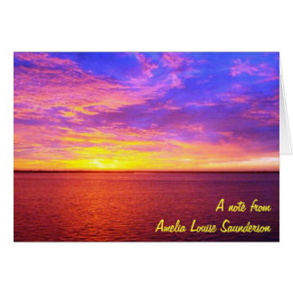 Blazing Sunset Personal Note Cards