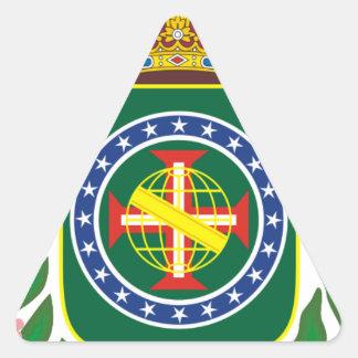 Blazon Empire of Brazil Triangle Sticker