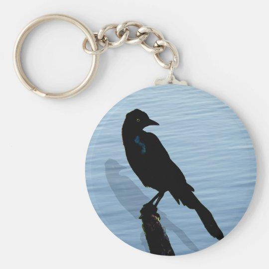 Blckbird by the water key ring