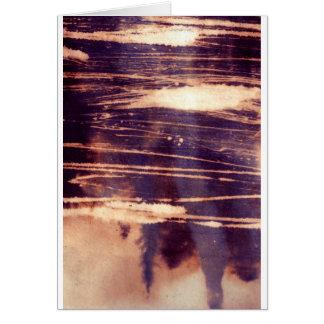 bleach scruffily / wet card
