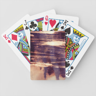 bleach scruffily / wet deck of cards