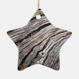 Bleached Australian hardwood of fallen gum tree Ceramic Star Decoration