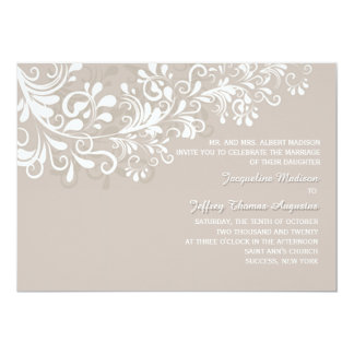 Bleached Branches Wedding Invitation