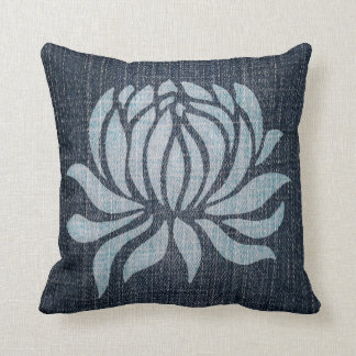 Bleached Denim - Mum Throw Pillow