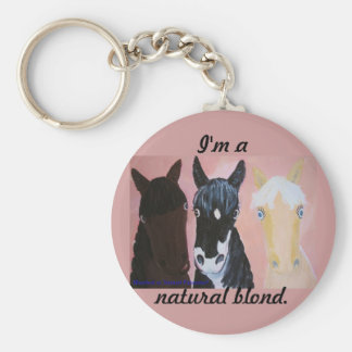Bleached Or Palomino? Basic Round Button Key Ring