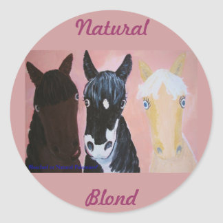 Bleached Or Palomino? Round Sticker
