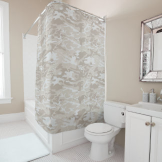 Bleached Wasteland Camo Shower Curtain