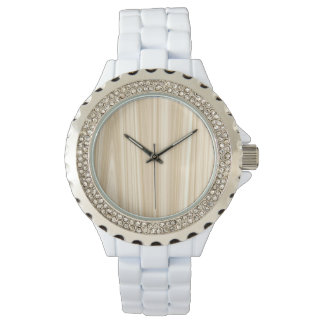 Bleached Wood & Rhinestone Watch by Julie Everhart