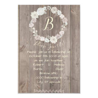 Bleached Wood Simple White Floral Card