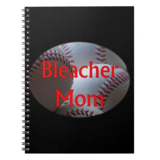 Bleacher Mom Baseball Notebook