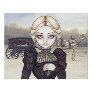 Bleak Mourning Art Print victorian gothic