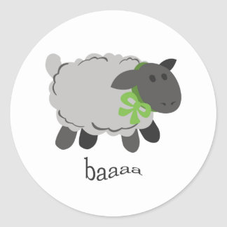 Bleating Sheep Classic Round Sticker