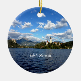 Bled, Slovenia--landscape photograph Ceramic Ornament