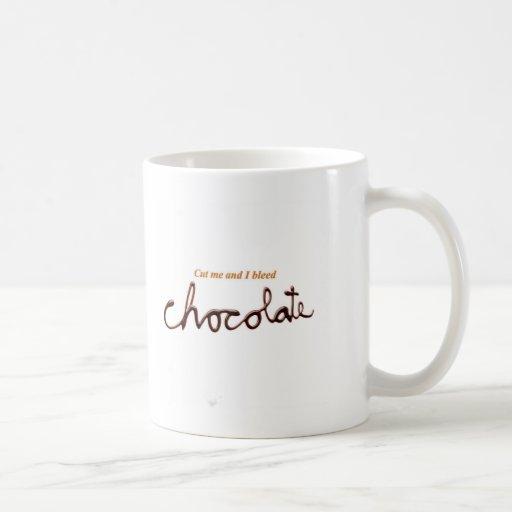 Bleed Chocolate Coffee Mugs