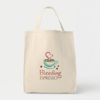 Bleeding Espresso Organic Grocery Tote