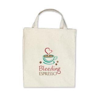 Bleeding Espresso Organic Grocery Tote Canvas Bag