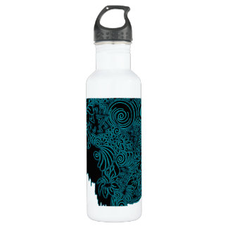 Bleeding Face - Teal 710 Ml Water Bottle