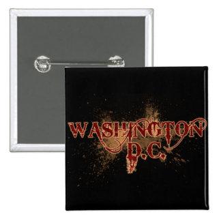 Bleeding Grunge Washington D.C. Button Dark