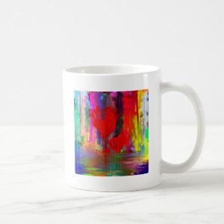 Bleeding Heart Abstract Mugs
