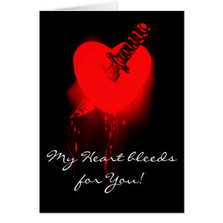 Bleeding Heart and Knife Card