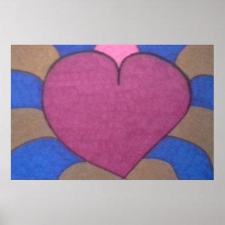 Bleeding Heart Art Poster