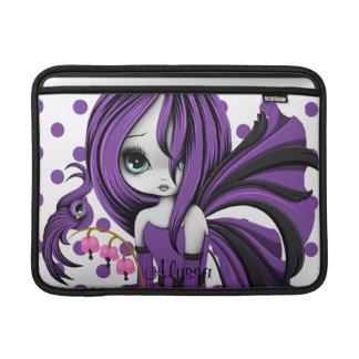 Bleeding Heart Fae MacBook Air Sleeve Purple