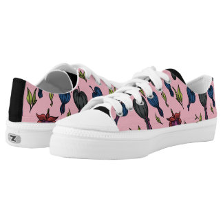 bleeding heart flower low tops