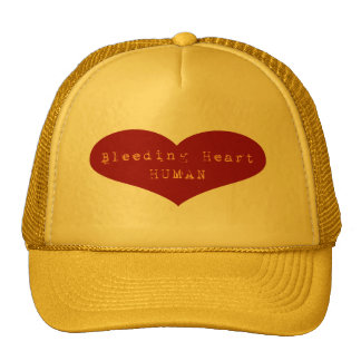 Bleeding Heart Human Mesh Hats