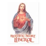 Bleeding Heart Liberal Jesus Postcard