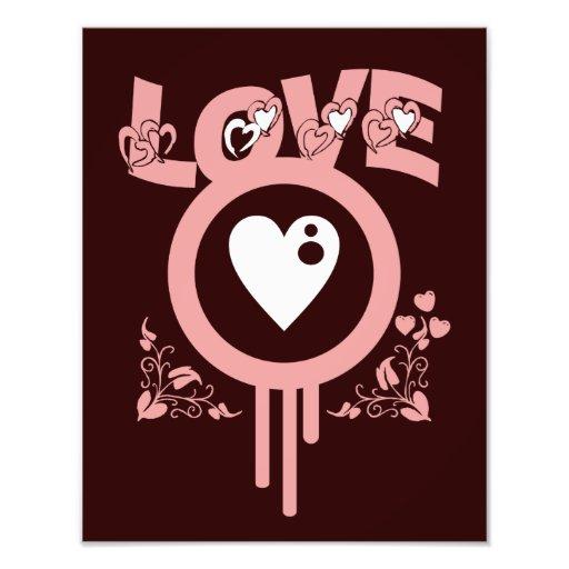 Bleeding Heart Love. Funky Vector style Photo Print