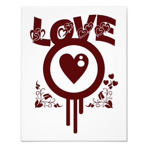 Bleeding Heart Love. Funky Vector style Photograph