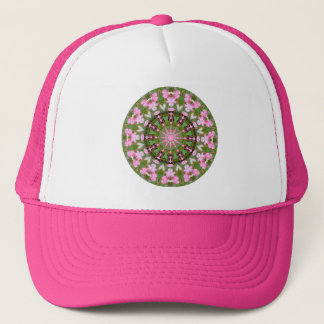 Bleeding Heart Nature, Flower-Mandala 05.f Trucker Hat