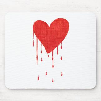 Bleeding Heart (white) Mouse Pad