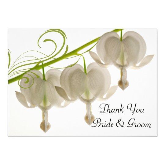 Bleeding Hearts Wedding Flat Thank You Notes Card