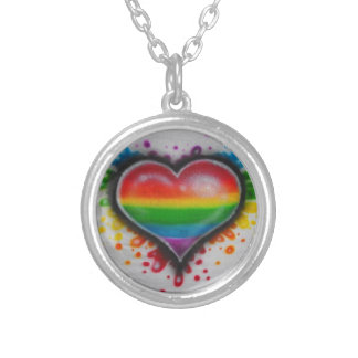 Bleeding Love Rainbow Neclace Silver Plated Necklace