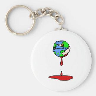 bleeding planet key ring