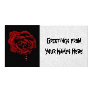 Bleeding Rose Customised Photo Card