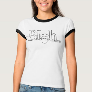 """Bleh"" Women's Bella Ringer T-Shirt, White/Black T-Shirt"
