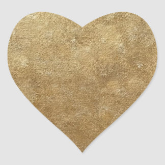 Blended Gold Sparkle Look Heart Stickers
