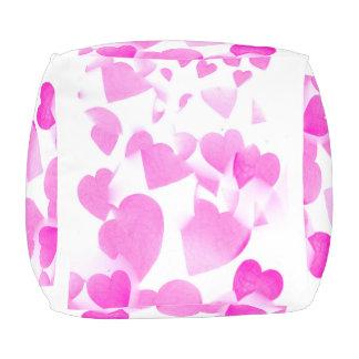 Blended Hearts cubed pouf
