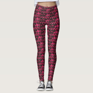Blended Pink Lotus Flower Collage Leggings