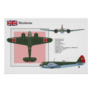 Blenheim Mk 1 Turkey Poster