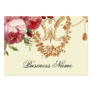 Blenheim Rose, Ivory, Business Card Template