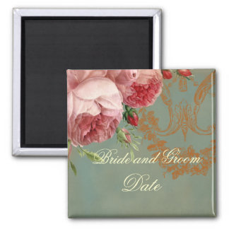 Blenheim Rose Save the Date Square Magnet