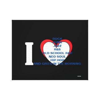 BLERD Music Love, Love is all Canvas Print