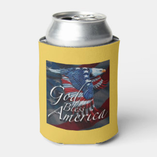 Bless America July 4th Beverage Can Cooler