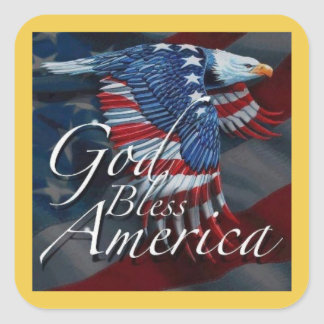 Bless America Veterans Day Stickers